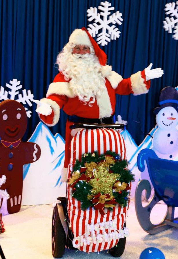 Santa on a Segway