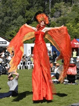 Sun Goddess on Stilts