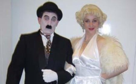 Marilyn and Charlie Chaplin