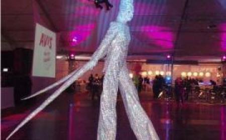 Silver Suits Stilts