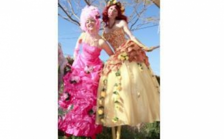 Spring Blossoms Stilt Walkers