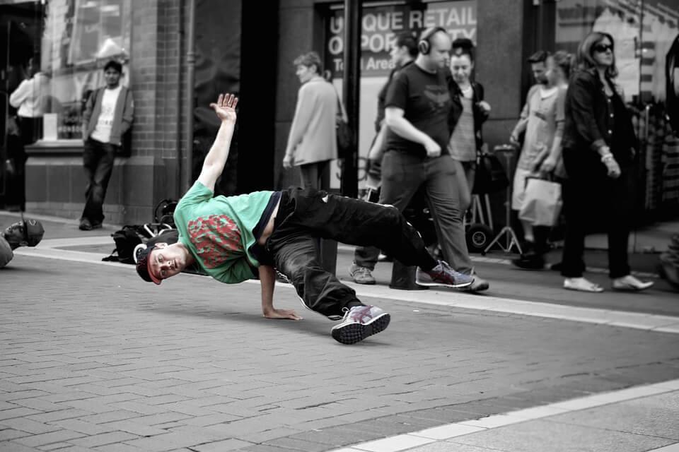 Break dancer choreography