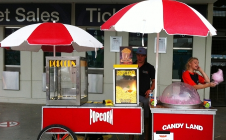 Popcorn & Fairy Floss Machine
