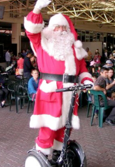 Santa on a Segway