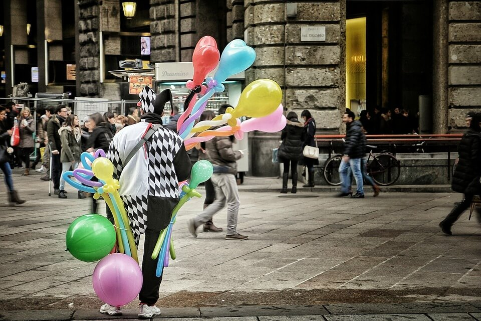 Circus acts- clowns circus performers