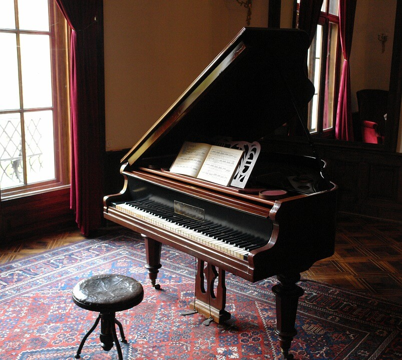 Classical music vintage piano