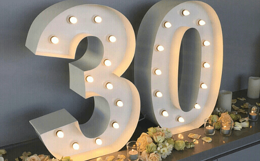 Big Light up Letters
