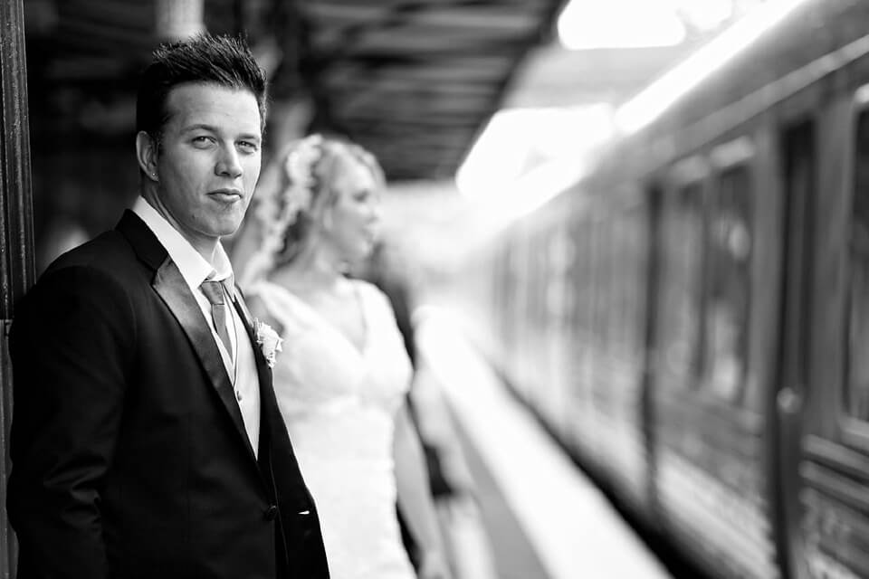 wedding image- melbourne train