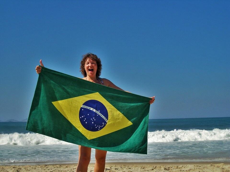 Brazilian themed event flag
