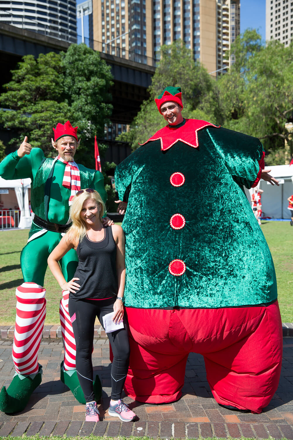 Giant Bouncy Elf Sydney Roving Christmas Characters