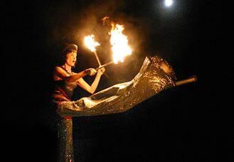 Fire  and  Stilts