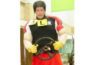 Tall F1 Driver
