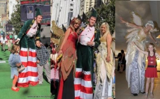 Chrystal the Christmas Fairy and Cheeky the Elf