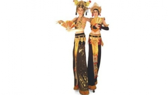 Golden Goddesses on Stilts