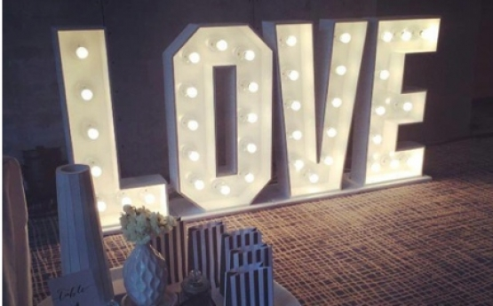 Love Letter Custom Made Light Up Letters