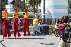 Musical Life Savers on Stilts