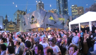 Outdoor Concert Federation Square New Years Eve 2012