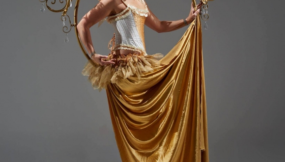 Aerial Golden Chandelier