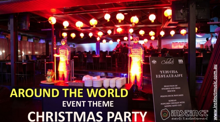 Around the World Event Theme Christmas Party