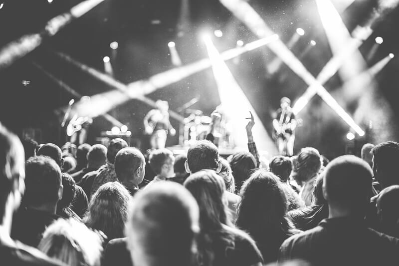 crowd-black and white-concert-small