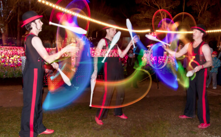 Glow Jugglers and Glow Hoops