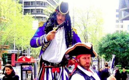 Pirates on stilts