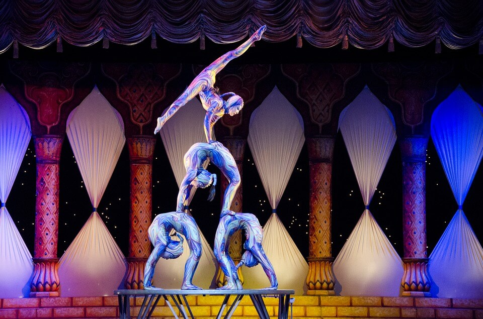 Circus acts acrobats- circus performers