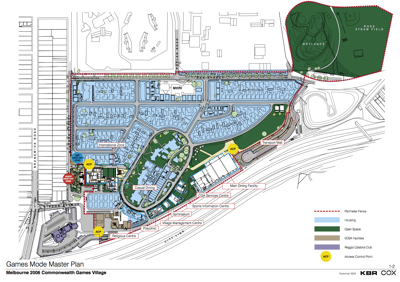 Commonwealth games site plan