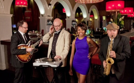 Djs with live musicians savannah club