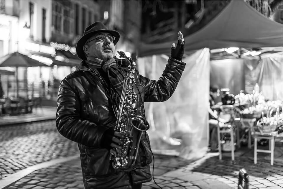 Latin jazz-saxophone-street