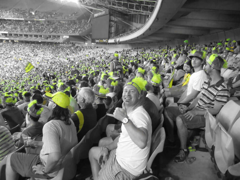 T20 cricket stadium shot