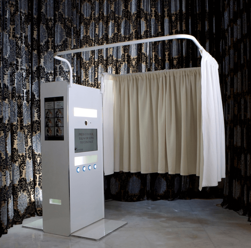 White Booth Private Curtain