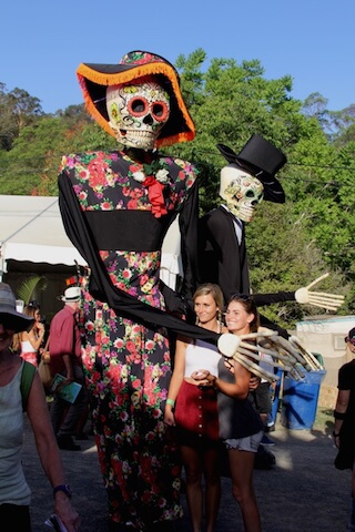 Mexican Stilts walkers