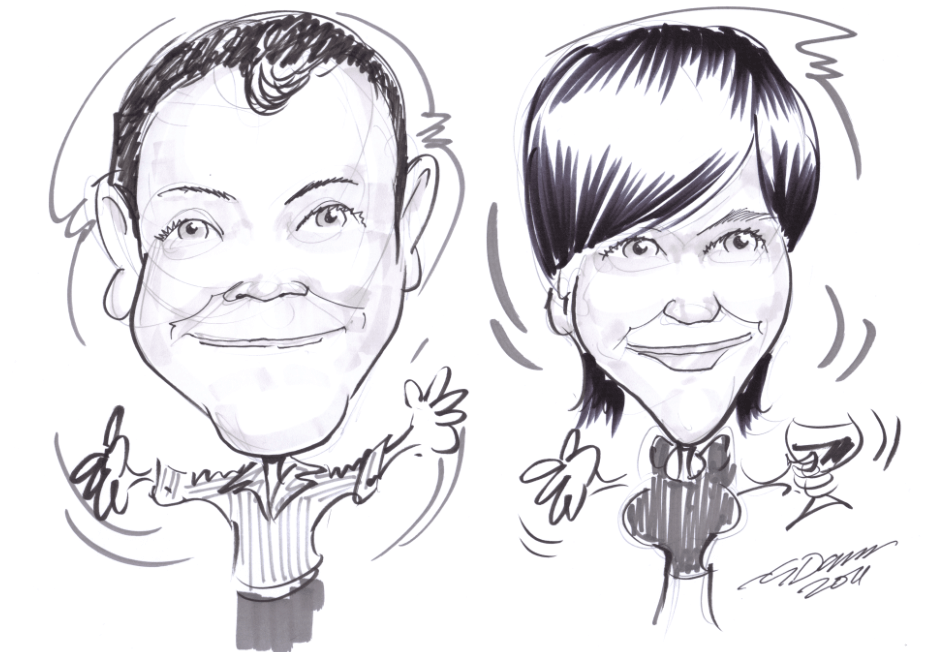 roving performers caricaturist