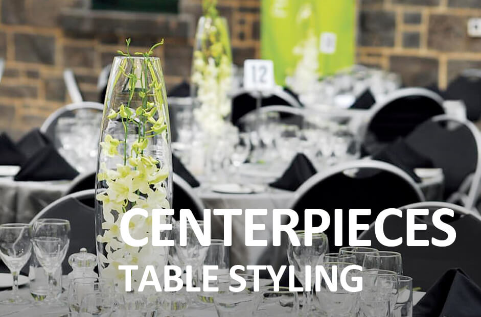 centerpieces and table styling