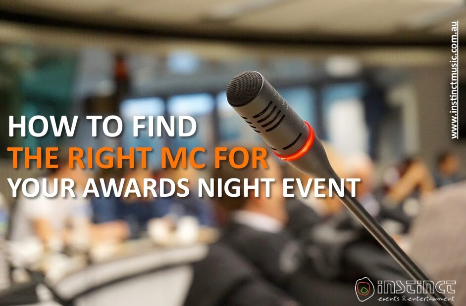 how to find the right mc for your awards night event