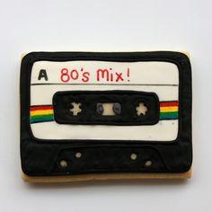 1980s theme Cassette cake