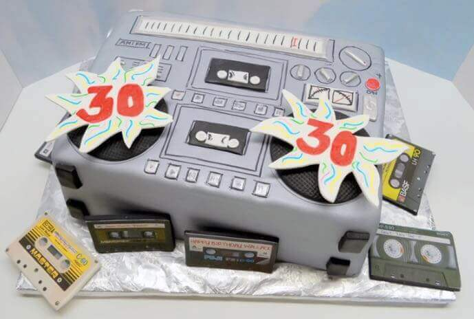 1980s theme Ghetto blaster Cake