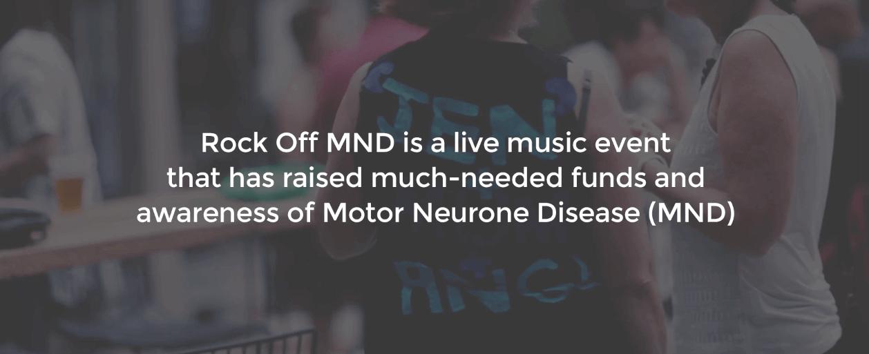 charity fundraiser Rock off MND 2-chunky jam