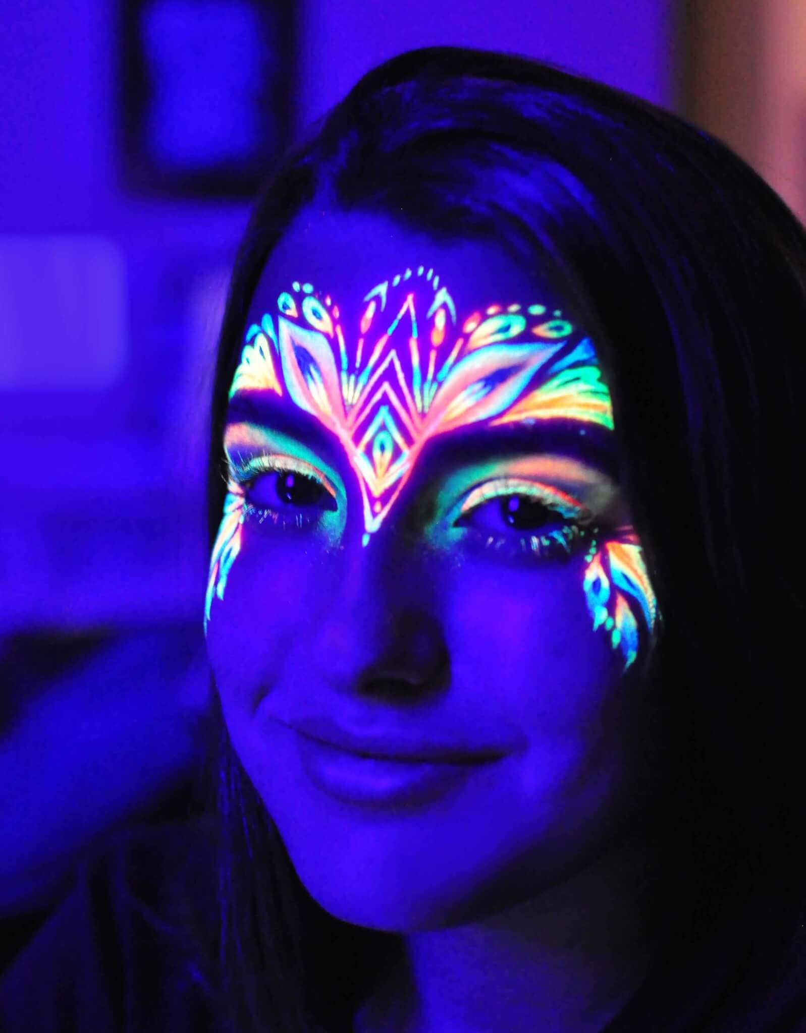 Uv face body painting instinct music for Paint a dark picture