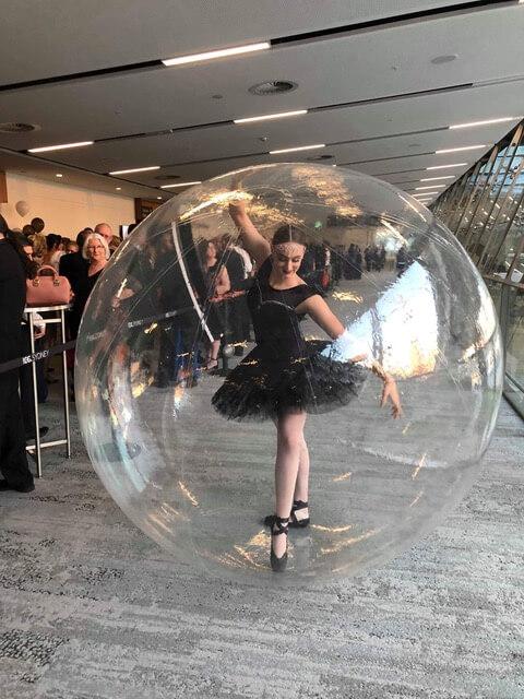 Ballerina in a Bubble