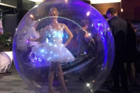 Ballerina in a Bubble