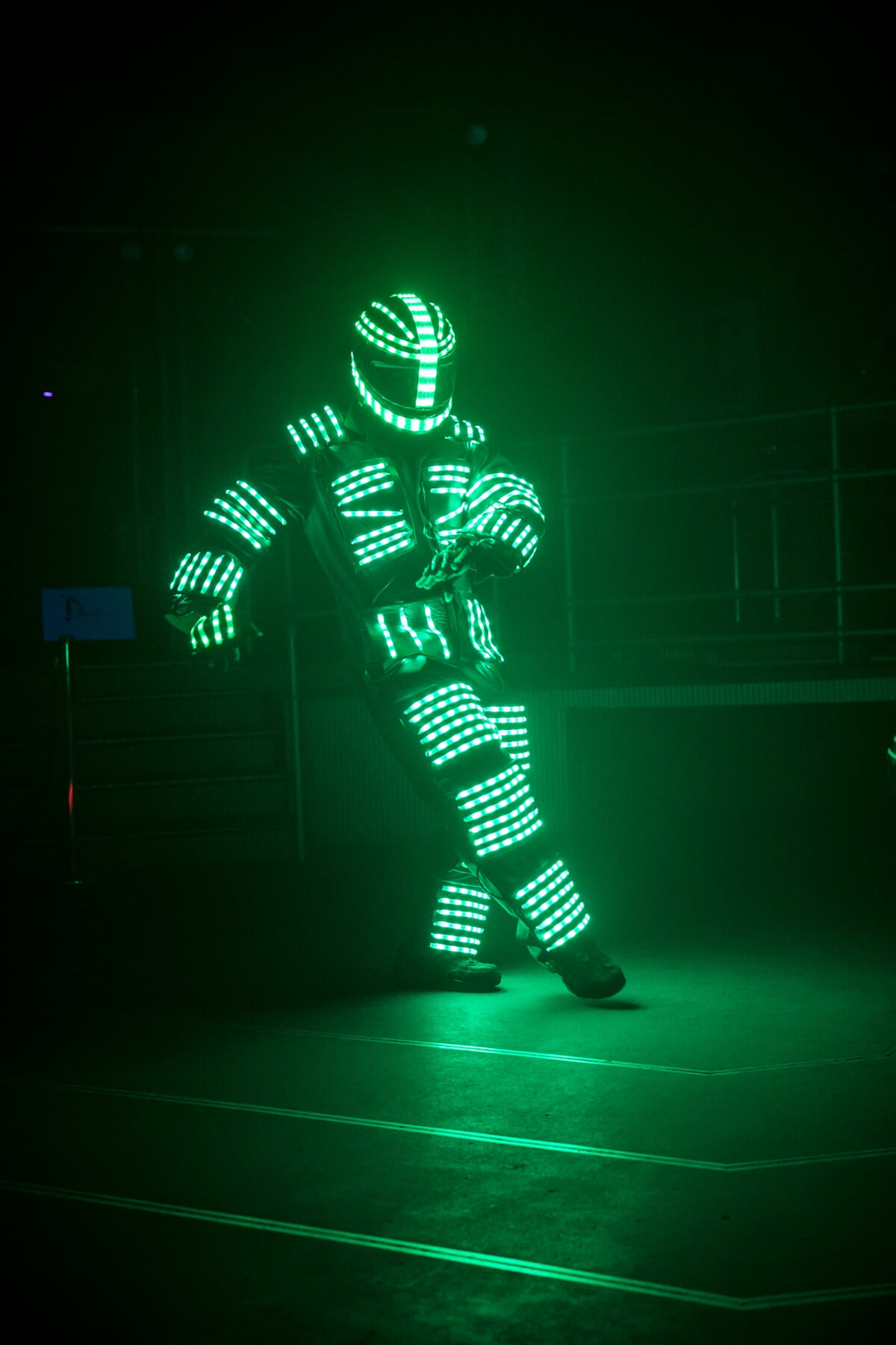 LED Robot | futuristic party theme ideas