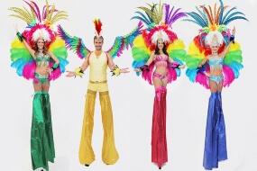 Rio Carnival Stilt Walkers