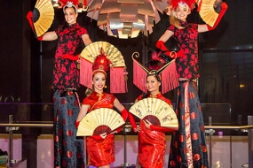 China Doll Stilt Walkers