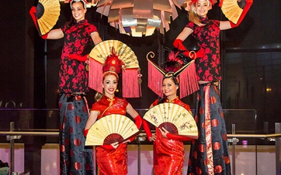 China Doll Stilt Walkers