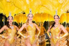 Golden Showgirls Stilt Walkers