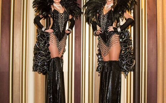 Black Showgirls Stilt Walkers
