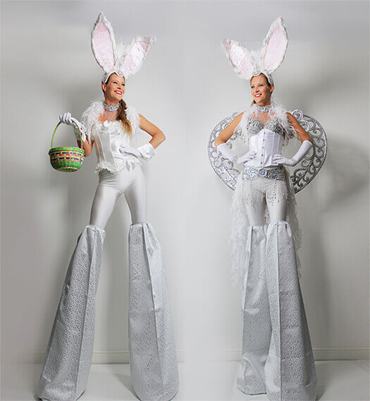 Easter Stilt Walkers