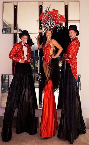 Glitz & Glam Stilt Walkers
